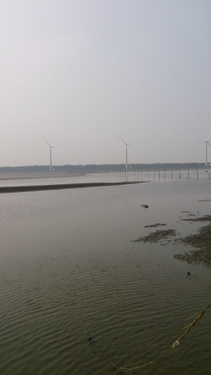 water, sky, wind turbine, turbine, renewable energy, alternative energy, environment, wind power, tranquil scene, scenics - nature, environmental conservation, beauty in nature, nature, fuel and power generation, tranquility, sea, land, no people, non-urban scene, outdoors