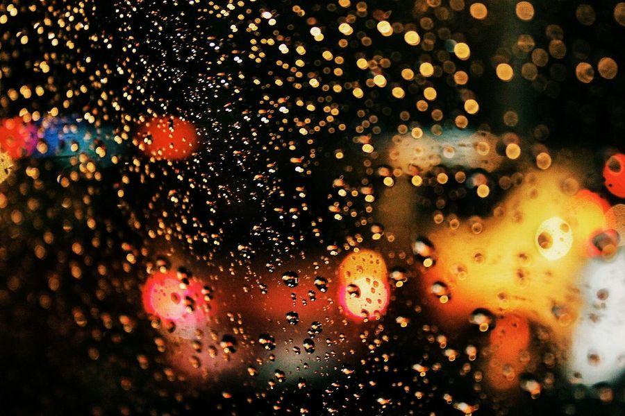 Killing lights Bokeh Bokeh Photography Close-up Glass - Material Window Car Multi Colored Land Vehicle RainDrop Night Backgrounds Darktones First Eyeem Photo EyeEmNewHere