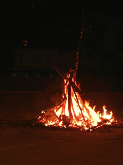 Bonfire Holikadahan Holi Festival Sacred Belief And Faith Festival Of Colors