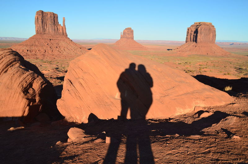 Sundown over Oljato-Monument Valley Arid Climate Best Friends Clear Sky Couple Desert Extreme Terrain From My Point Of View Geology Landscape Light And Shadow Monument Valley Navajo Orange Physical Geography Rock Rock Formation Rough Shadow Stone Sundown That's Me USAtrip