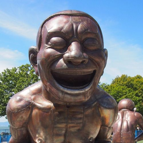 Laughing statues in Vancouver Explorebc Vancouver Travel Wanderlust Art Statue Summer Englishbay Vancity Vancitylife