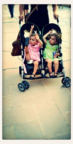 Twingirls Cute♡ Spotted Sameshoes at #DubaiMall #2014????