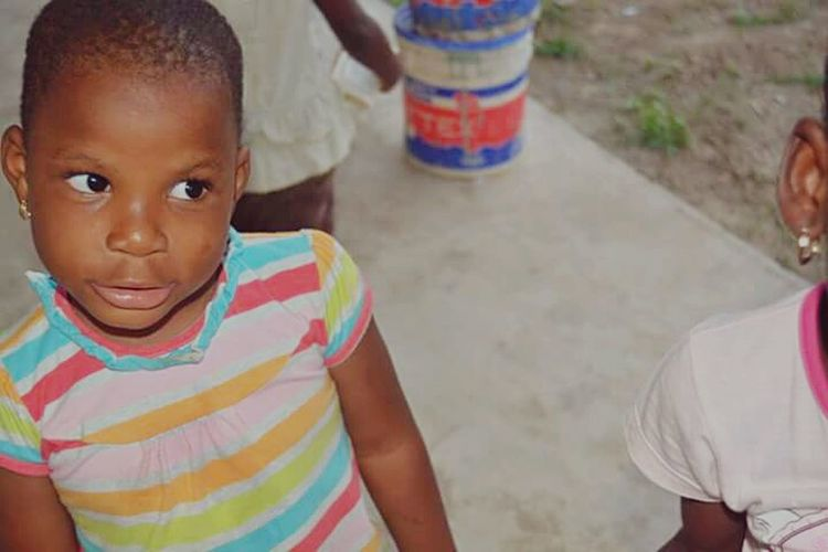 A young Ghanaian girl for the Save our Lives Orphanage in Kumasi Ghana Nikon D5200