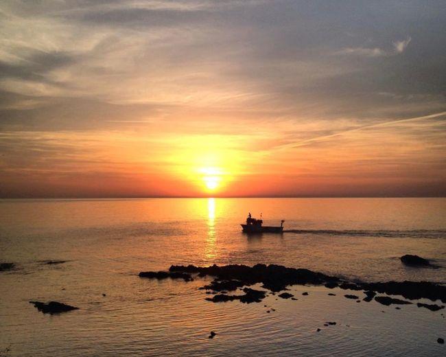 Tirebolu Sunset Water Sky Sea Nautical Vessel Transportation Beauty In Nature Sun Scenics - Nature