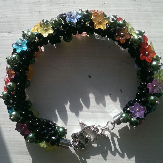 Kumihimo bracelet :) pattern by pru McRae :) Lovethisone Gorgeous Handmade Jewellery Beadingfrenzy