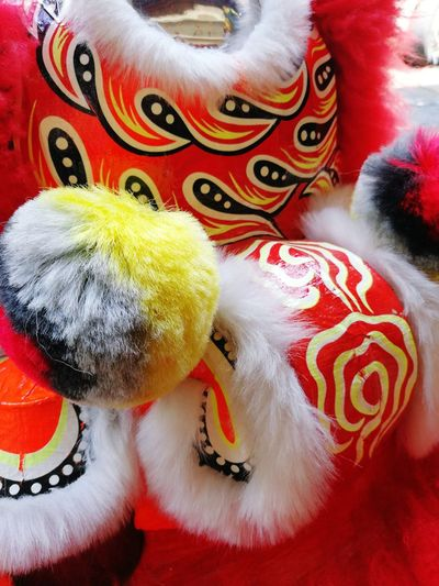 lion dance Clown Multi Colored Red Arts Culture And Entertainment Close-up Chinese New Year Traditional Festival Festival Chinese Dragon Traditional Dancing Chinese Lantern Festival Chinatown