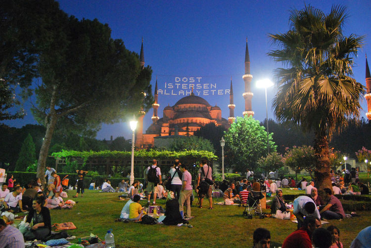 Eating Eating Outside Faith Hagia Sophia Illuminated Istanbul Large Group Of People Leisure Activity Lens Flare Lifestyles Mixed Age Range Mosque Muslim Muslim Couple Muslim Culture Ramadan  Ramazan The Following Tourism Tourist Travel Destinations Tree My Favorite Place Battle Of The Cities People And Places