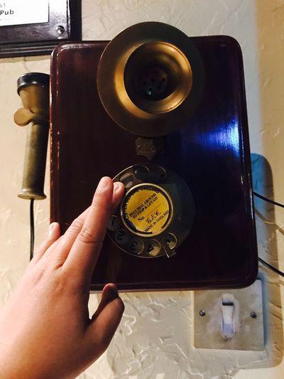 Lieblingsteil Oldtelephone OldSchool❤ Technology Human Hand Indoors  Human Body Part Oldtechnology Firsttelephone Telephone Photography Telephone Oldie