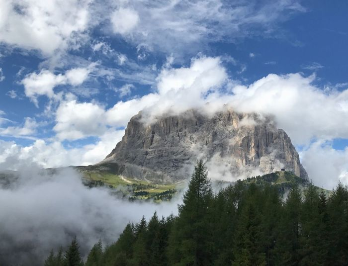 Mountain Nature Beauty In Nature Scenics Tranquil Scene Day Sky Tranquility Cloud - Sky Outdoors No People Mountain Range Physical Geography Landscape Tree Water Dolomites, Italy Perspectives On Nature