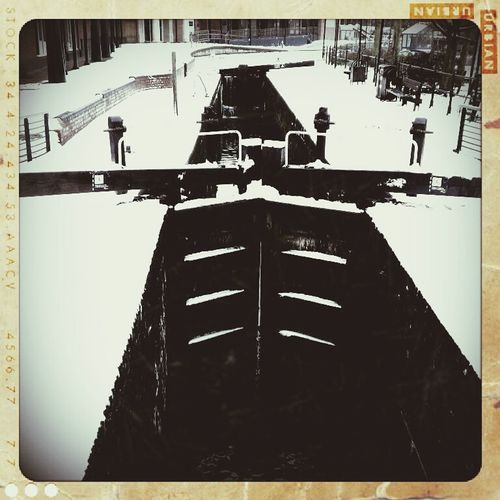 Transportation White Background Snow ❄ Banbury Canal Lock Moving Mode Of Transport