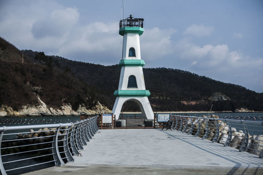 Haenam Lighthouse Korea Land End Village Port