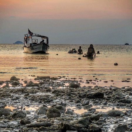 Seas the day! Beach Sea Sunset Sky Water Real People Nature Beauty In Nature Occupation Outdoors Horizon Over Water Scenics Nautical Vessel Day Tioman Diving Divemaster Pahang, Malaysia Malaysia Malaysia Truly Asia