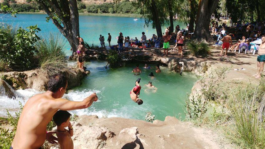 Be Brave Water Tree Men Beach Women Swimming Summer Enjoyment Sand Fun