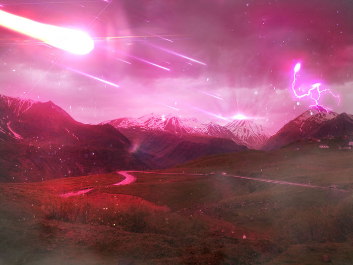 Pink Color Purple Night Landscape Arts Culture And Entertainment Mountain Red No People Nature Outdoors Illuminated Sky Beauty In Nature Astronomy Like4like Likeforlike Follow4follow Followme Terraced Field Beauty In Nature Field Valley Mountain Range Onelasttime Onelasttime💖