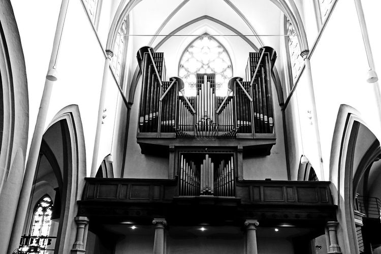 Orgel Bonn Beethoven Place Of Worship Religion Arch Architecture Pipe Organ Musical Instrument Historic Pipe - Tube Cathedral Musical Equipment