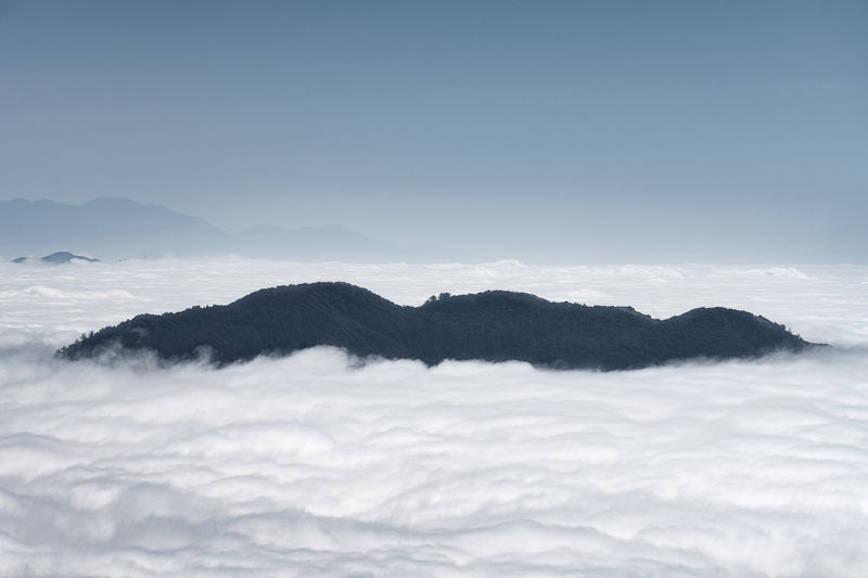 I need to find my way to the summit of this island in the sky during the next inversion. Beauty In Nature Cloud - Sky Day Landscape Nature No People Outdoors Scenics Sky Tranquil Scene Tranquility