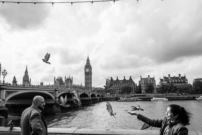 Adult Adults Only Architecture Big Ben Building Exterior City Cityscape Clock Tower Cloud - Sky Cultures Day One Person Outdoors People Real People Sky Travel Travel Destinations Urban Skyline Westminister Westminister Bridge  Neighborhood Map Connected By Travel Postcode Postcards