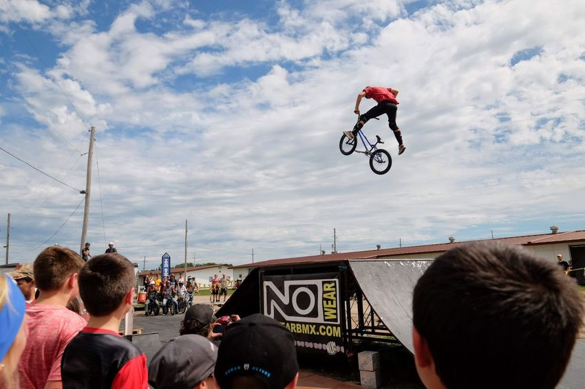 Nowear BMX Team Nebraska State Fair September 1, 2018 Grand Island, Nebraska Camera Work Check This Out EyeEm Best Shots FUJIFILM X-T1 Fujinon 10-24mm F4 Getty Images Grand Island, Nebraska Nebraska State Fair NowearBMX Photojournalism Action Action Shot  Bicycle Bmx  Bmx Cycling Competition Crowd Day Events Extreme Sports Eye For Photography Freestyle Group Of People Jumping Leisure Activity Lifestyles Men Mid-air Mode Of Transportation Motion People Real People RISK S.ramos September 2018 Series Skill  Sky Spectator Sport Stunt Transportation Watching