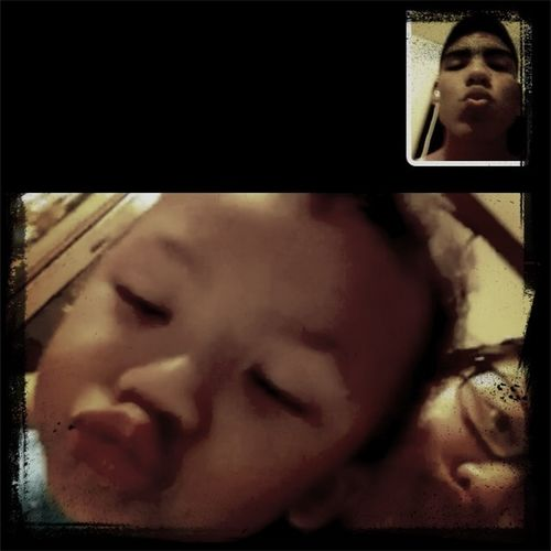 Mommy Daddy Son Kissey Face