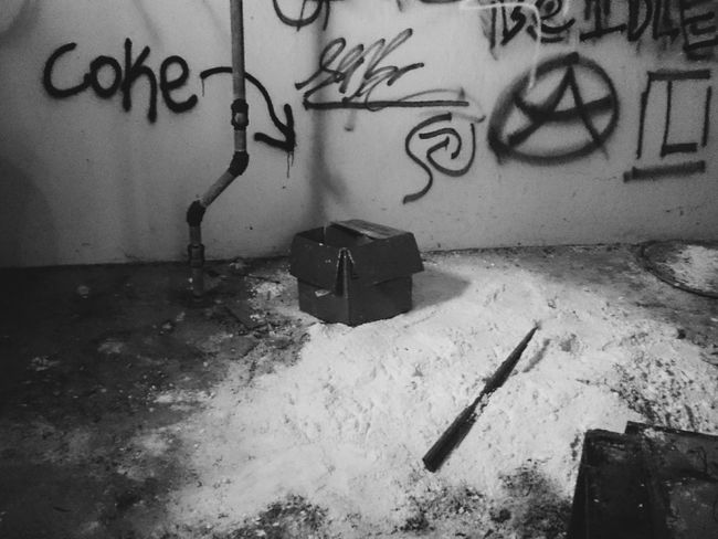 Abandoned Places Abandoned EyeEm_abandonment Urban Exploration No People Abandoned & Derelict Indoors  Blackandwhite Monochrome Bnw Drugs Cocaine