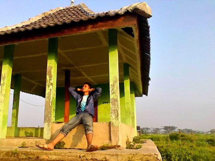 feel the air Morning Light Old House Sawah