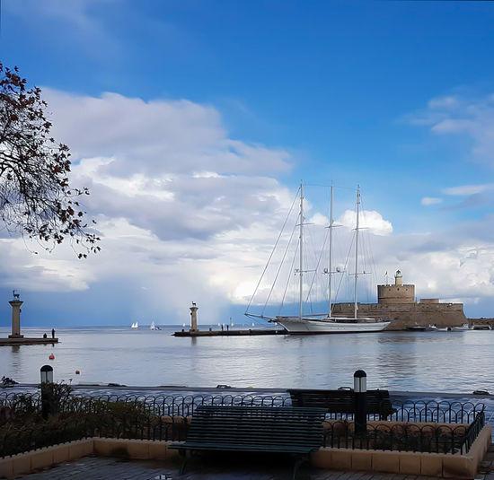 Cloud - Sky Day Harbor My Island ❤️ No People Outdoors Sailing Ship Sea Sky Water