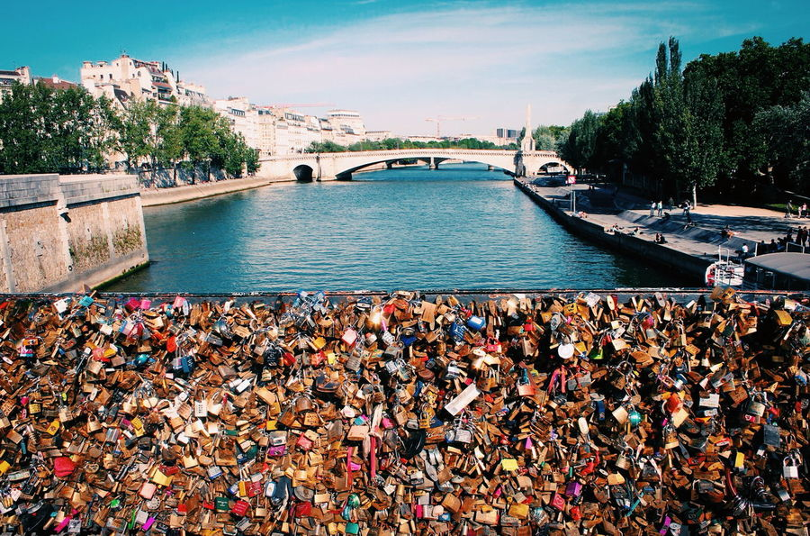 Bridge Bridges City Community Eyeem Bridges Lake Love Lock Love Locks Bridge Lovelocks Mode Of Transport Nautical Vessel Outdoors Paris Paris ❤ Paris, France  Pier Rippled River Seeing The Sights Sightseeing Transportation Travel Trip Water Waterfront