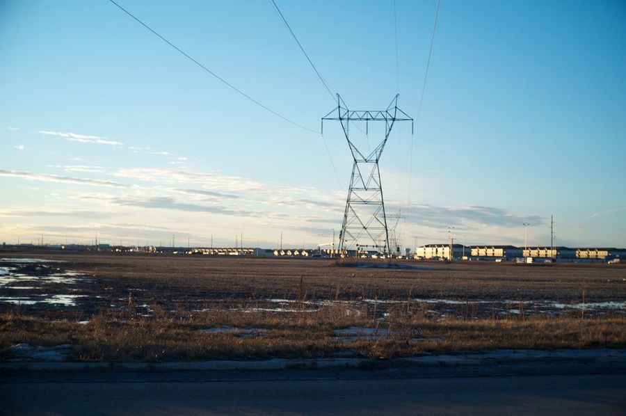 Fargo, North Dakota / February 19, 2016 Atmospheric Mood Built Structure Cable Cloud Connection Dusk Electricity  Electricity Pylon Environmental Conservation Fargo Fuel And Power Generation Journey No People North Dakota Outdoors Power Cable Power Line  Power Supply Sky South Fargo Technology