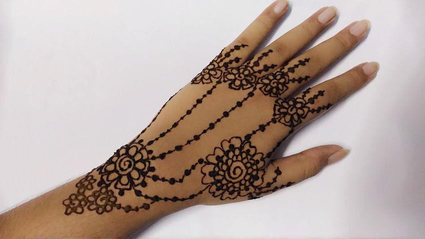 Art Close-up Creativity Design Indianculture Indoors  Mehendi Person White Background