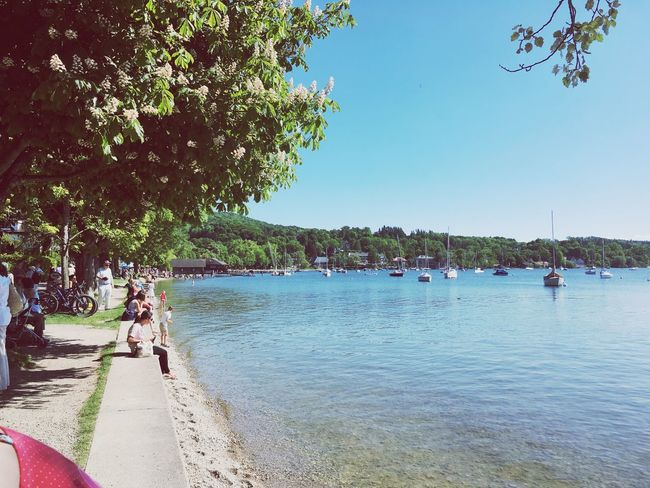 Munich Germany See Water Blue Blue Sky Wave Boat Bayern Beer Dirndl Ammersee