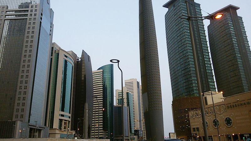City Center Doha Qatar Downtown Daylight Scyscraper Taking Photos Hello World Dohalife City Life