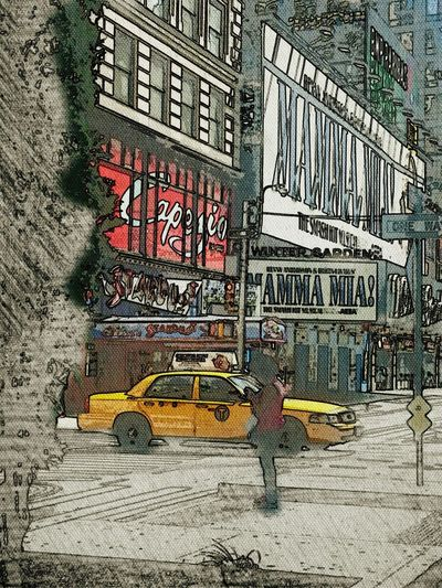 NYC, Broadway, New York Scene Color Drawing Urban Photography Art Nearby Check This Out Urban Life Enjoying Life Colores