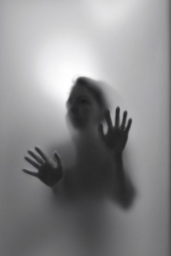 Hands One Person Human Hand Hand Human Body Part Fear Glass - Material 10 Indoors  Touching Spooky Body Part Glass Frosted Glass Mystery