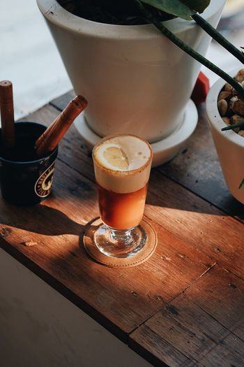 Alcohol Beer Beer - Alcohol Beer Glass Coffee Coffee - Drink Drink Drinking Glass Food And Drink Freshness Froth Frothy Drink Glass High Angle View Household Equipment Indoors  No People Refreshment Still Life Table Tray Wood - Material