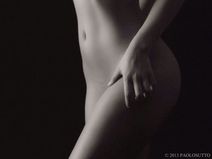 Letizia Model Woman Girl B&w Studio