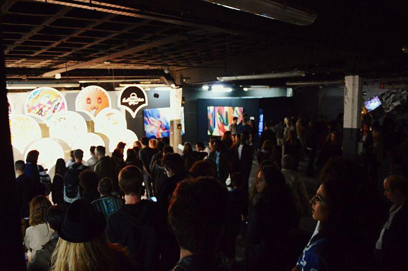 Overnight Success City Life Large Group Of People Indoors  Illuminated Crowd Lifestyles Nightlife Exhibition