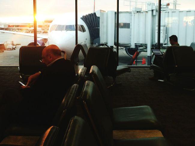 Waiting While Inbetween Airports