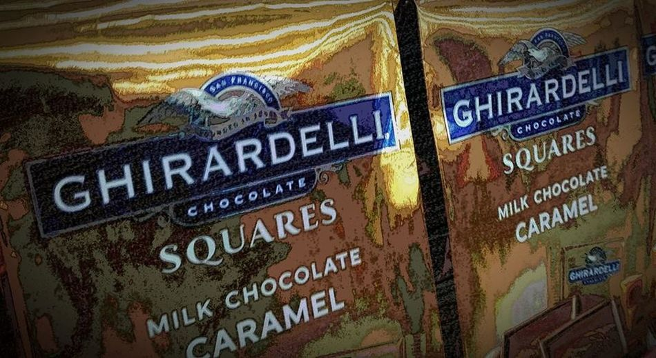 Chocolate Chocolate Squares Close-up Ghirardelli Chocolate Ghirardelli Chocolate Squares Multilayering No People Samsung Studio Effects Squares Studio Effects Studio Layering Text