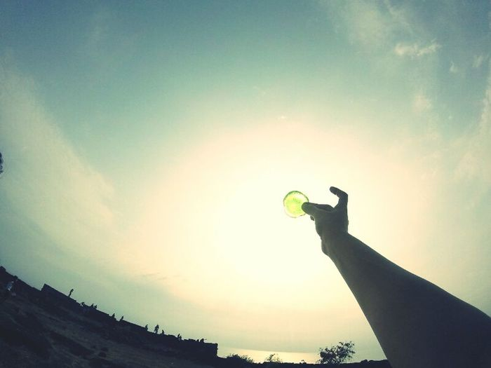 Glass Objects  Human Body Part Outdoors Day Sky Human Hand One Person Sunlight And Shade
