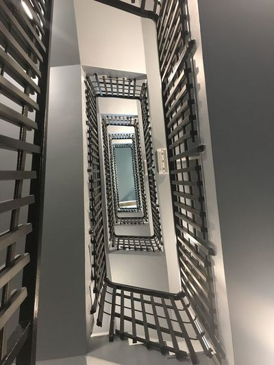Built Structure Architecture Steps And Staircases Staircase Building Spiral Railing Spiral Staircase No People Indoors  Low Angle View Pattern Diminishing Perspective Directly Below Design