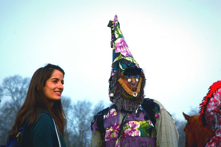 Carnival Crowds And Details Portrait Young Adult Adults Only Lifestyles Happiness Two People Arts Culture And Entertainment Young Women Adult People Togetherness Smiling Outdoors Day Mardi Gras Courir De Mardi Gras Fat Tuesday Mask Masked Costume Party Celebration Celebrate