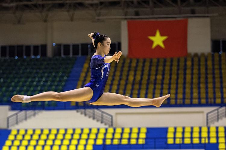Woman gymnastic