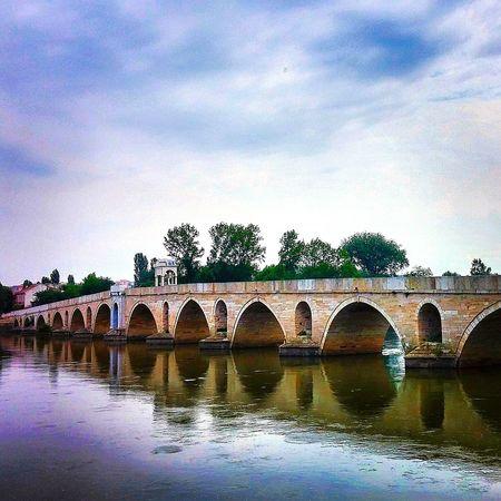 Bridge Historical Capture Clouds River Riverside Photo Meriç Architecture
