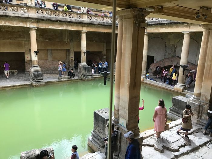 Bath Roman Bath Real People Water Group Of People Architecture Built Structure Crowd Large Group Of People