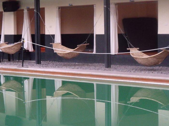 Water Reflections Rattan Swing Cabana In Nowhere Land The Tourist Travelgram