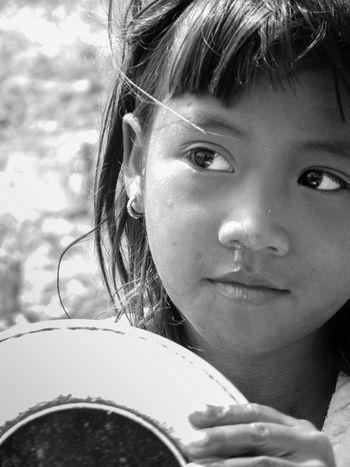 Close-up Person Portrait Travel Photography ASIA Streetphotography Southeastasia Traveling Travel People One Person Up Close Street Photography Kambodscha Stung Treng Cambodia Volunteering The Portraitist - 2016 EyeEm Awards Blackandwhite