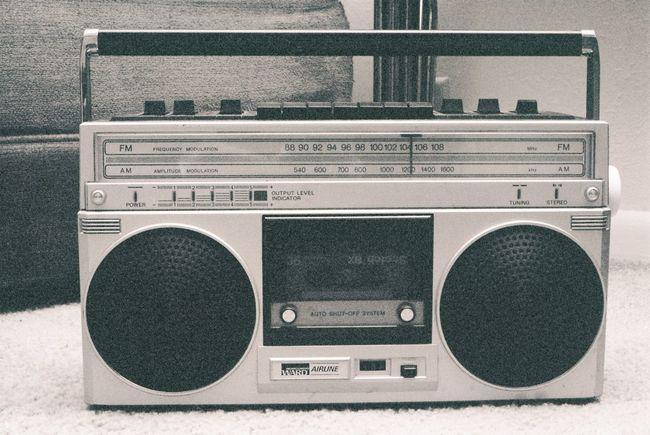 35mm Backgrounds Black And White Boombox Cassette Close-up Communication EyeEm Best Shots EyeEm Best Shots - Black + White Film Grain HipHop Hipster Music Musician Radio Rap Stereo
