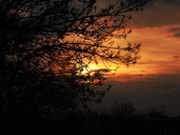 Sundown, Nightfall, Close Of Day, Twilight, Dusk, Evening; Sunse View Through My Window Sundown After Rain RainDrop Simple Beauty Eye4photography  Sunset For My Friends 😍😘🎁 Enjoyinglife  Enjoying The View Beauty In Nature Rainy Days☔ Springtime💛 Tranquility Dramatic Sky