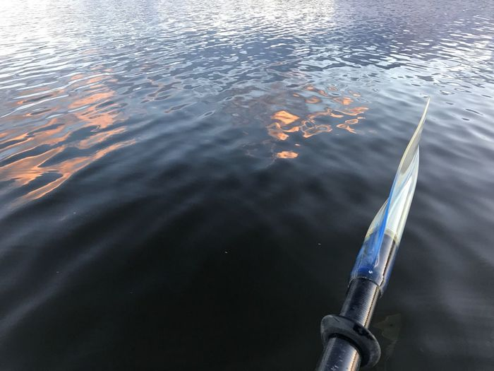 Water and paddle