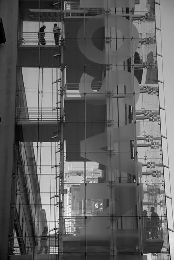Low angle view of building under construction